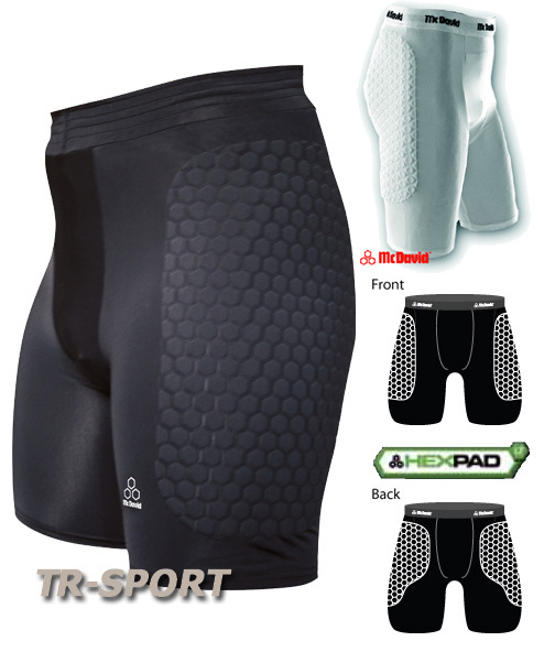 McDavid Herren HexPad Handball Basketball Hose 757 THUDD, black, XL